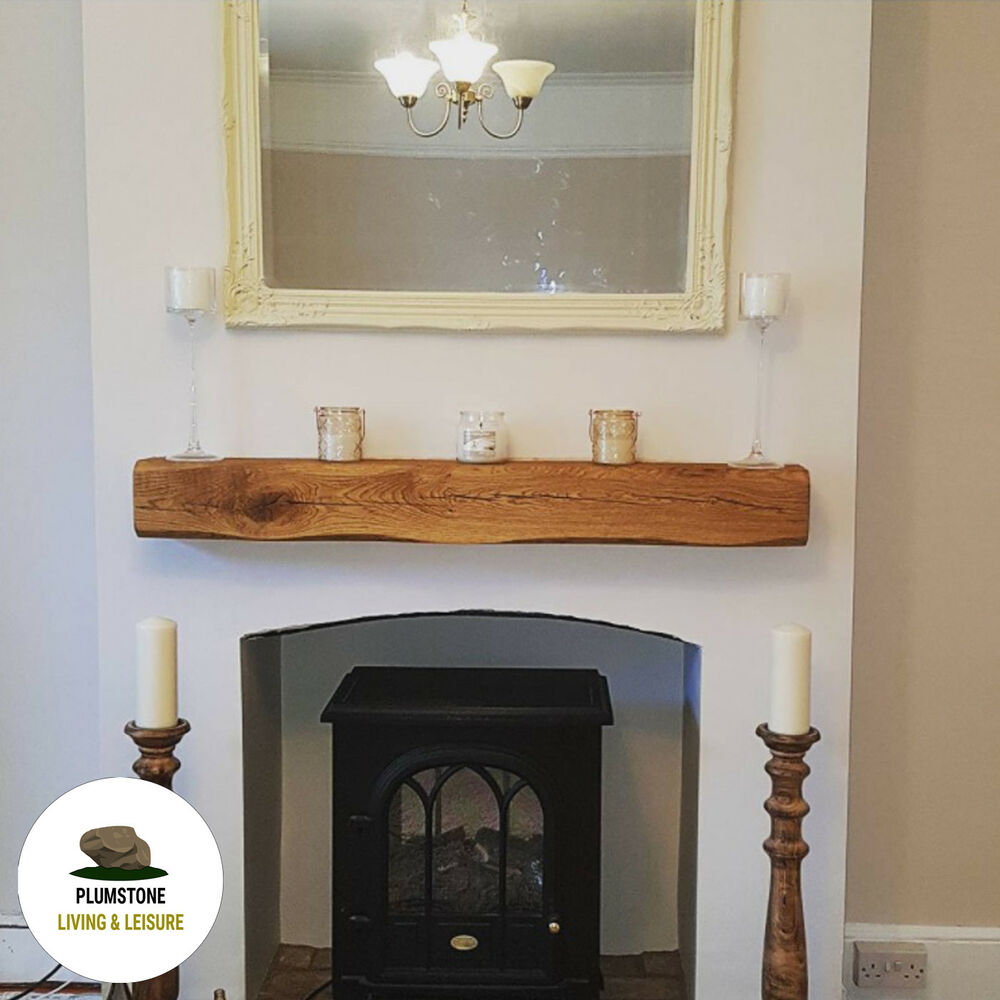 Fireplace Beams Oak Mantle Fireplace Beam Rustic Timber Shelf Mantelpiece With Brackets Oils Ebay