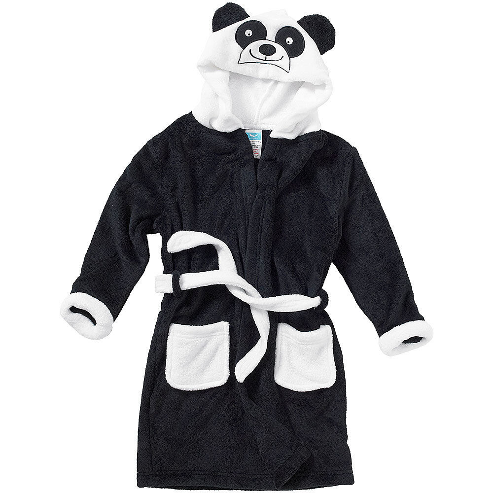 Robe De Chambre Enfant Animal Crazy Childs Boys Girls Panda Bath Robe Dressing Gown Supersoft Fleece Ebay