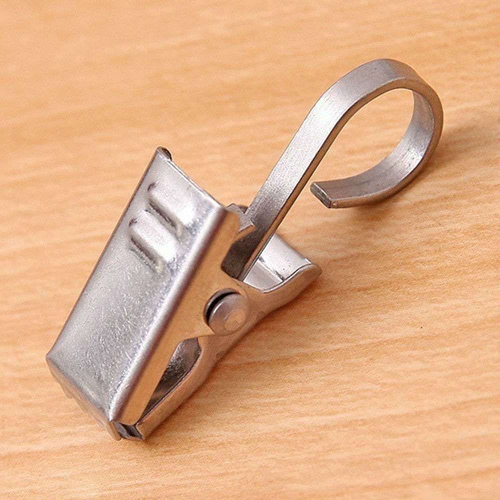 Hook Towel Clip Metal Curtain Clips Window Curtain Rings Stainless Steel Ebay - Vorhang Clips Metal