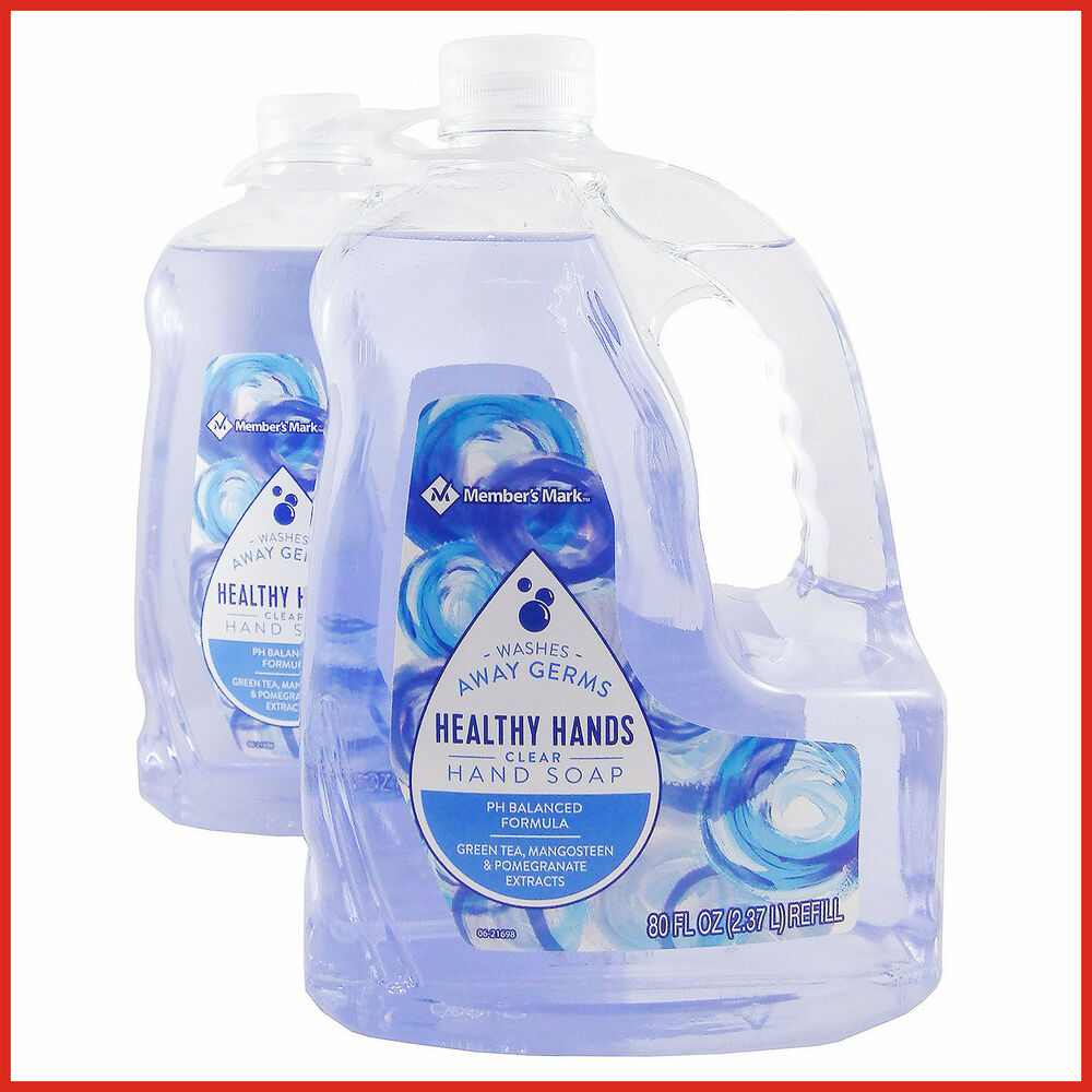 Hand Soap Refill No Tax Member S Mark Hand Soap Refill Clear 80 Fl Oz 2 Pk 9787874224787 Ebay