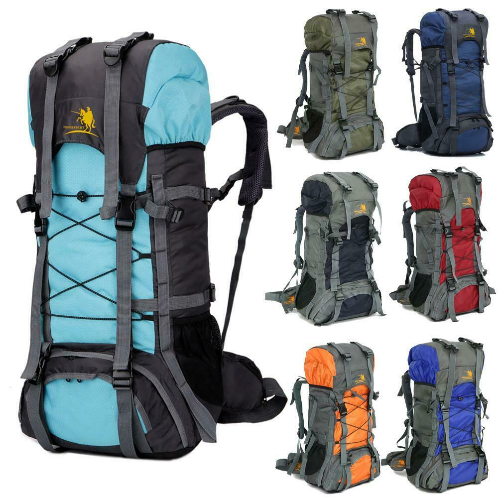 Travel Rucksack 60l Waterproof Camping Travel Rucksack Backpack Climbing Hiking Bag Trekking Ebay
