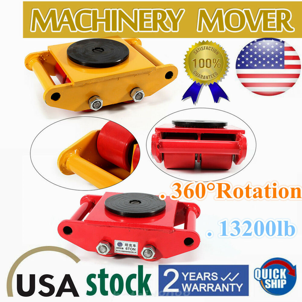Design Couchtisch Spin Industrial Machinery Mover With 360 Rotation 6 Ton 13 200lb Capacity 4 Rollers Ebay