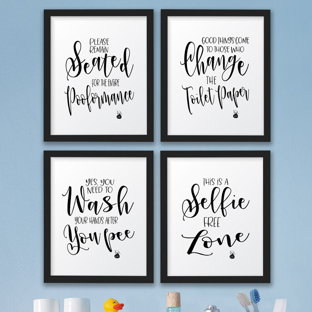 Bathroom Wall Art Decor The John Funny Bathroom Wall Art Prints Decor Pictures Signs Quotes Gag Gift 721782951983 Ebay