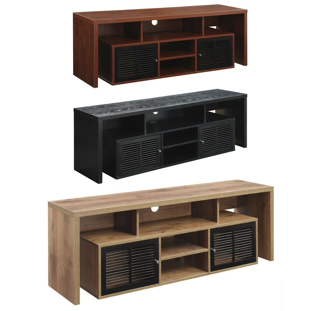 Flat Screen Tv Stands Flat Screen Tv Stand 60 Inch Entertainment Center Wood Av Media Cabinet Console Ebay