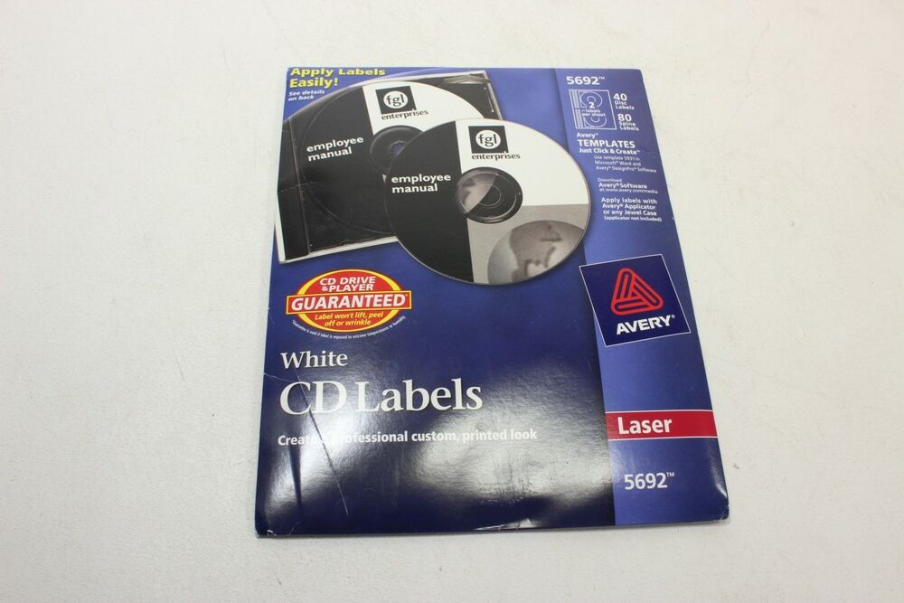 Avery Laser CD/DVD Labels Matte White 40/Pack 5692 - New Other