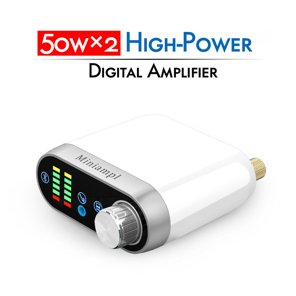 Hifi Bluetooth 50w 2 Stereo Bluetooth 5 Digital Power Amplifier Mini Hifi Amp Aux Usb Class D Ebay