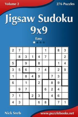 Jigsaw Sudoku 9x9  Easy 276 Puzzles, Paperback by Snels, Nick, ISBN