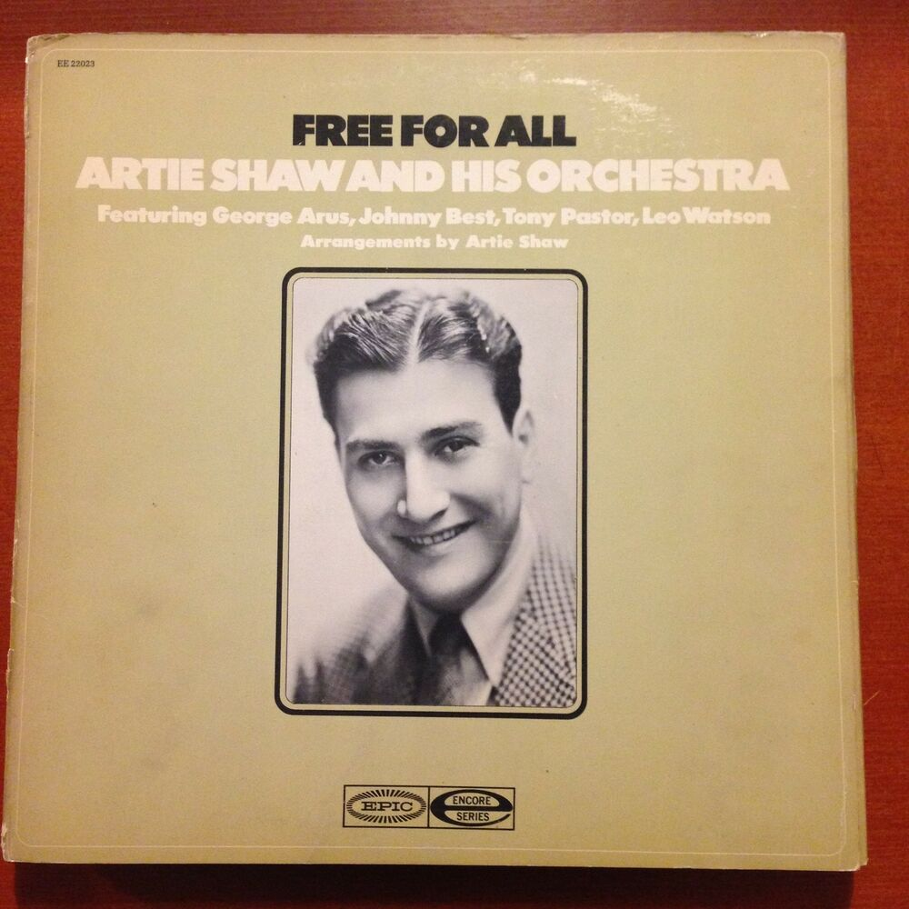 Artie Shaw Genre Artie Shaw Free For All Lp Epic 22023 Big Band Swing Ebay