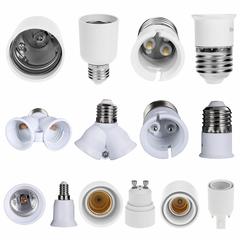 E14 E27 Adapter 5pcs Lamp Socket Adapter E14 E27 G23 Gu10 Light Bulb Base