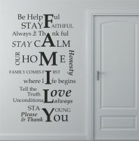 Family House Rules Wall Art Sticker, Decal, Graphic lv77 ...