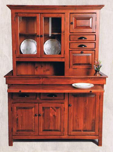 Hoosier Cabinet Large Pine Hoosier Cabinet, Usa Made Antique Reproduction
