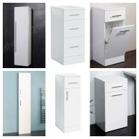 Choice of Modern White Bathroom Storage Units Cabinets ...