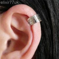 HOT VINTAGE SILVER EAR CUFF UPPER HELIX CARTILAGE CLIP-ON ...