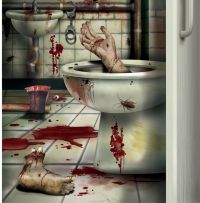 CSI Bloody Horror CREEPY CRAPPER BATHROOM DOOR COVER