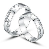 His and Hers Certified Sterling Silver Promise Rings ...