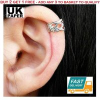 NEW SILVER KNOT CRISS CROSS EAR CUFF UPPER HELIX CARTILAGE ...