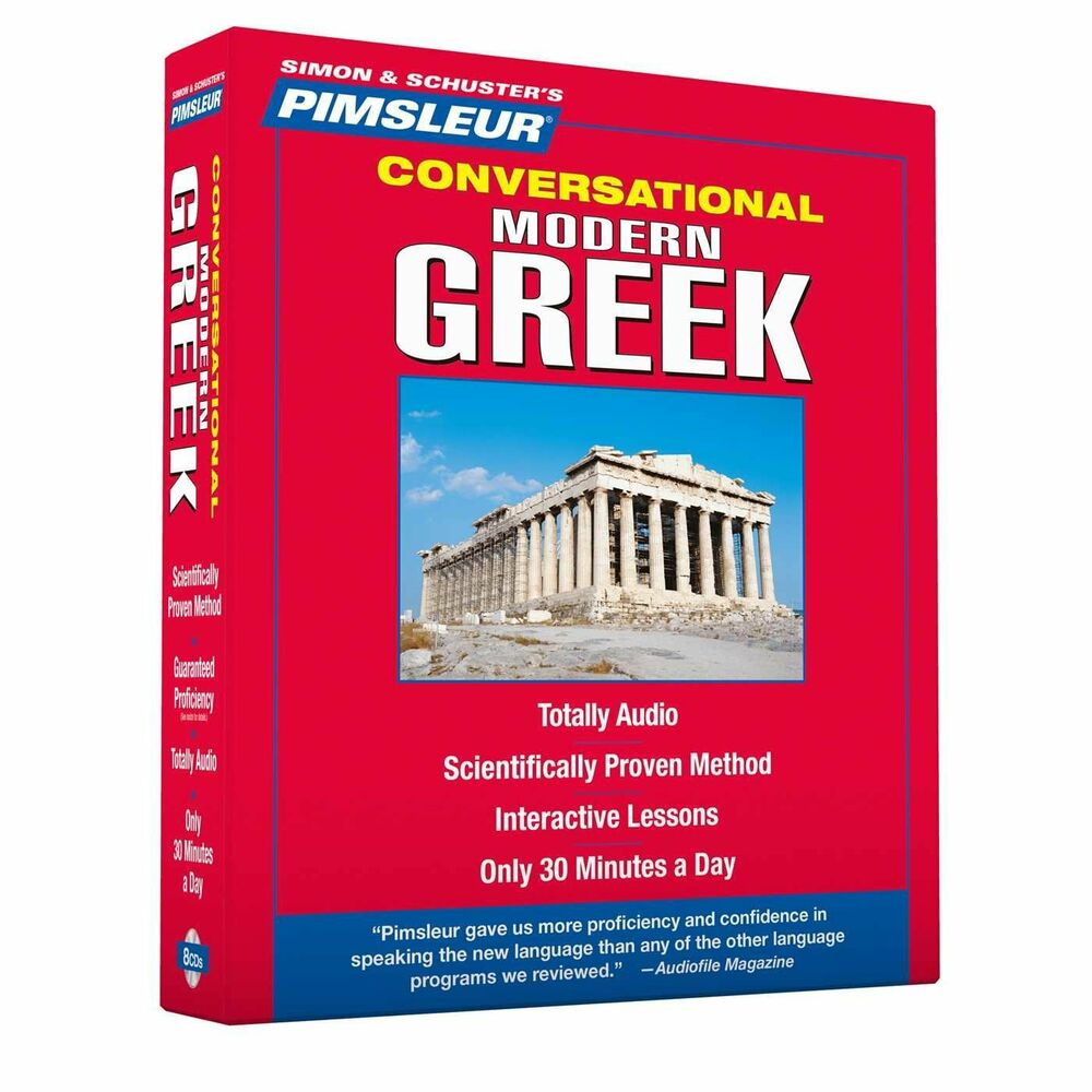 Greek Language New 8 Cd Pimsleur Learn To Speak Greek Language Modern 16 Lessons Ebay