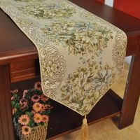 Classic Embroidery Tassel Dining Table Runners Hotel Bed ...