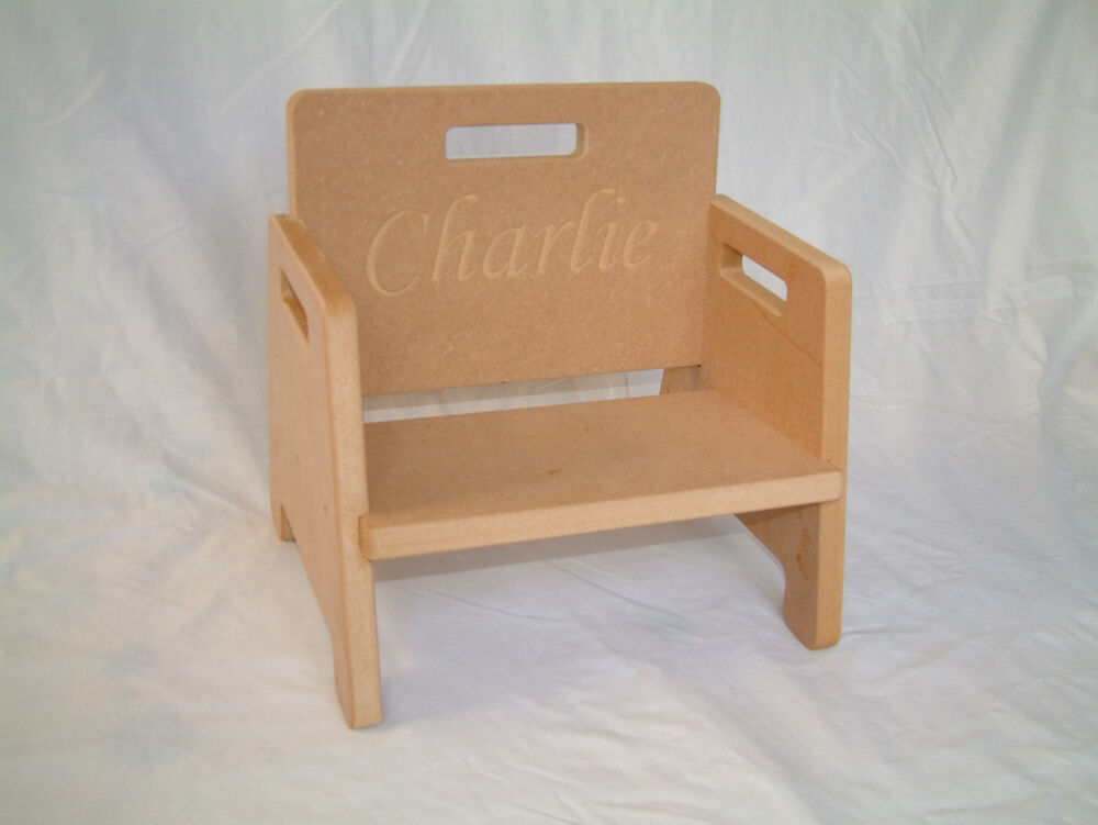 Diy Baby Toddler Chair Personalisable With Any Text