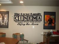 Cinema Theatre customized sign home movie theater vinyl ...