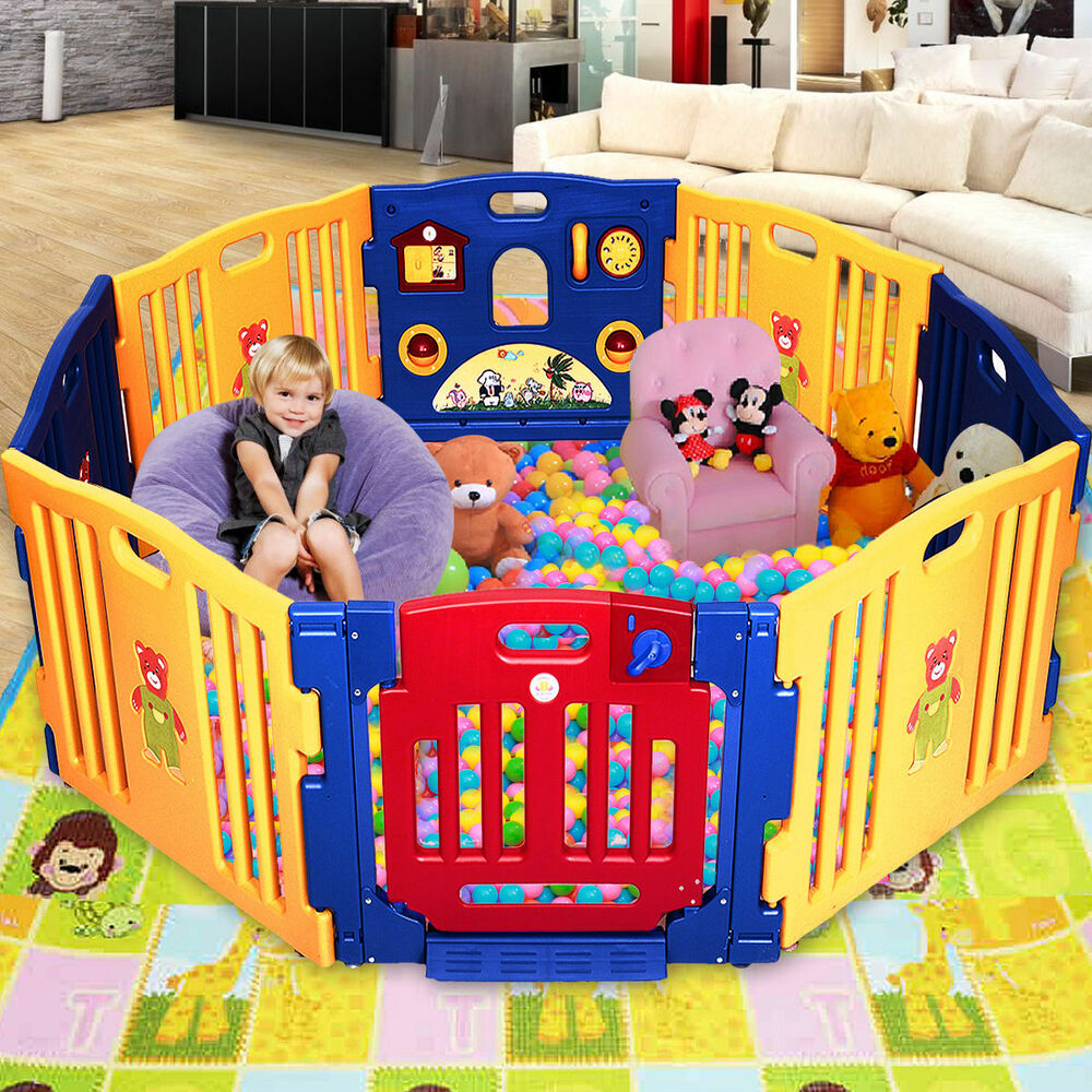Baby Playpen Ebay Uk 8 Panel Large Foldable Baby Kids Play Pens Playpen Room