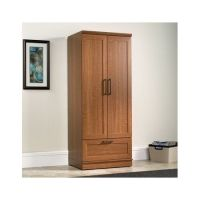 Tall Wardrobe Closet Oak Armoire Storage Cabinet Wood ...