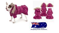 Dog Coat Parka XS S M - Chihuahua Jacket Puppy Pet Clothes ...