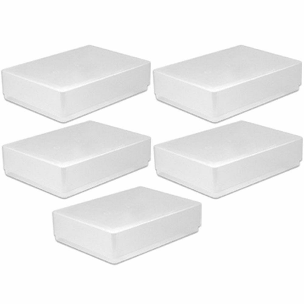 5 X A5 Clear Plastic Paper Storage Box Holder Envelope