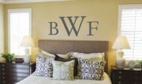 CUSTOMIZES COUPLES MONOGRAM Wall Art Decal Quote Words ...