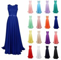 New Long Lace Bridesmaid Formal Ball Gown Party Cocktail ...