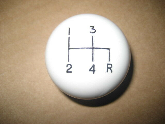 4 speed shifter shift knob WHITE 1979 CJ 1965+ Dodge Ford T18 T19