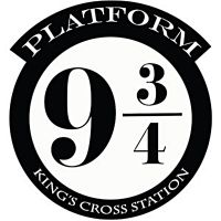 HARRY POTTER PLATFORM 9 3/4 KINGS CROSS CUT VINYL WALL ART