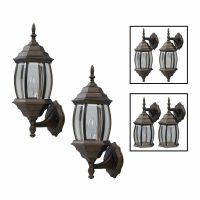 Exterior Outdoor Lantern Light Fixture Wall Sconce Twin ...