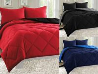 Empire 3pc Reversible Comforter Set Microfiber Quilted Bed ...