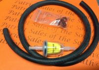 """3 Ft Fuel Line hose 1/4"""" in line Fuel filter replaces ..."""