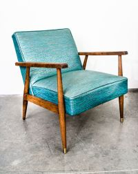Mid Century Modern Lounge Chair Armchair Wood Vintage ...