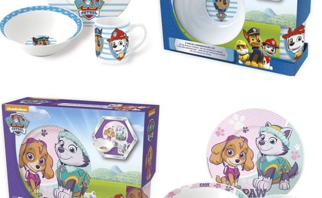 Paw Patrol Ceramic Kids Girls Boys Breakfast Set