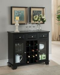 Kings Brand Buffet Server Sideboard Cabinet with Wine ...