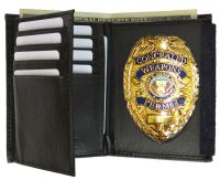 GOLD CONCEALED CARRY BADGE and WITH LEATHER WALLET Badge ...
