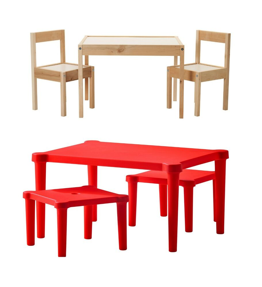 Childrens Table With Chairs And Table With Stool Suitable