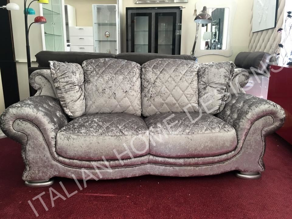 Ebay Sofas New Pendragon Vienna Crush Velvet 3 Seater + 2 Seater Sofa