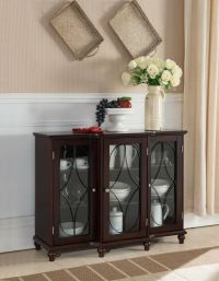 Kings Brand Wood Storage Sideboard Buffet Cabinet Console ...