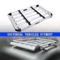 Universal Car Roof Cargo Carrier Luggage Basket Roof Rack ...