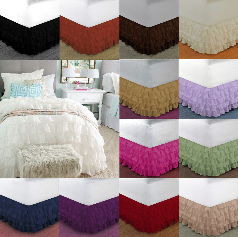 Dressing A Bed New 1pc Solid Plain Bed Dressing Ruffle Skirt 20