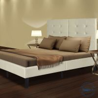 Sleeplace Wood Slat Platform Bed Frame with Light Grey ...