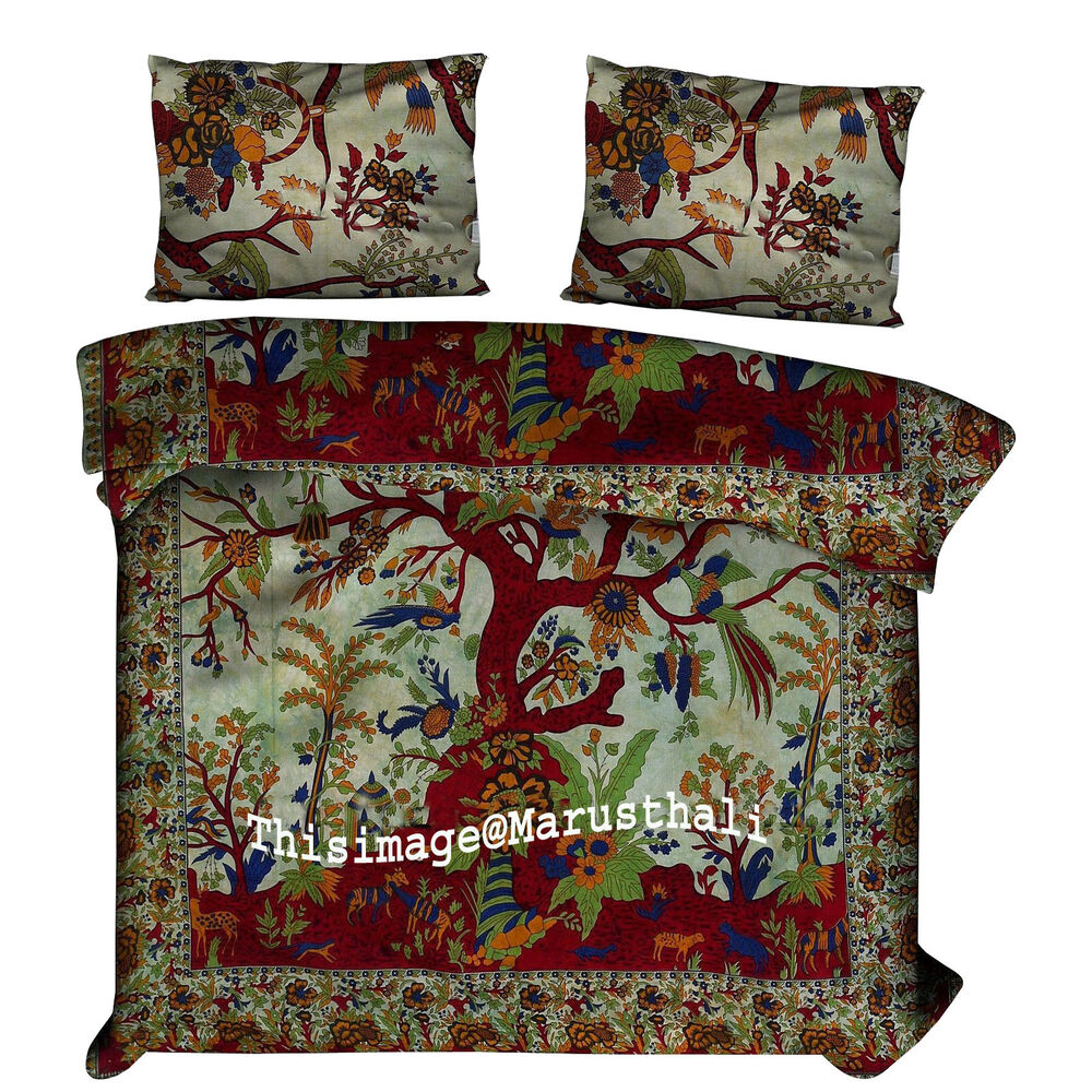 Duvet Covers And Comforters Indian Tree Of Life Bedding Sets Duvet Covers Mandala Quilt Comforter Cover Ebay