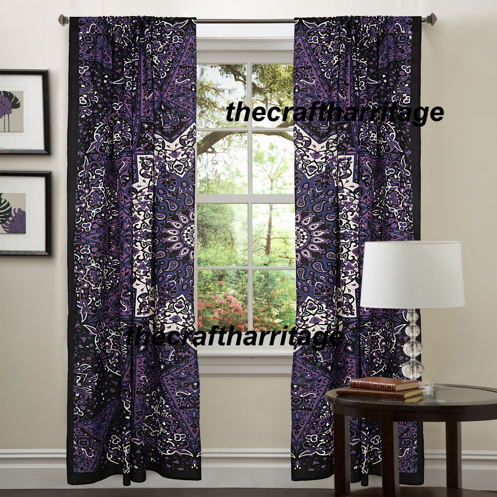 Hanging Curtains On Walls Without Windows Indian Mandala Tapestry Hippie Wall Hanging Curtain Bohemian Valances Dorm Decor Ebay