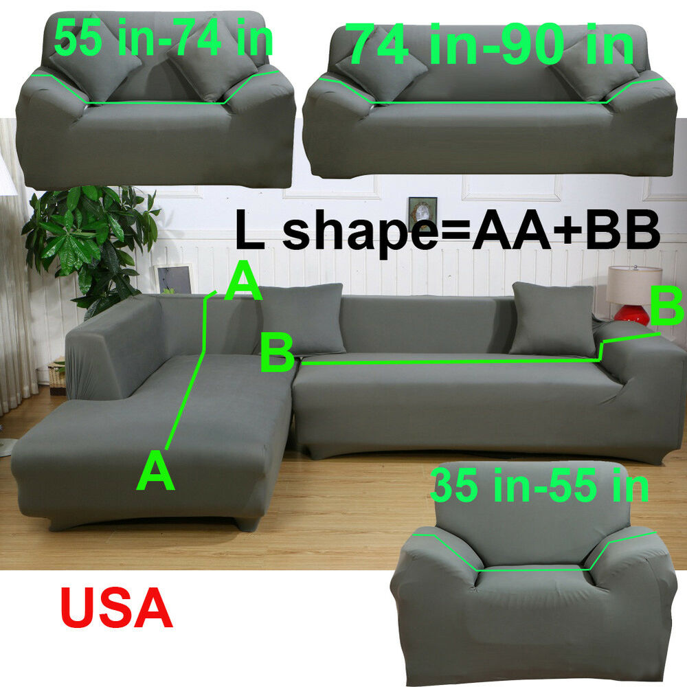 Corduroy 3 Seater Sofa L Shape 1 2 3 4 Seater Stretch Cover Couch Slipcover For Sectional