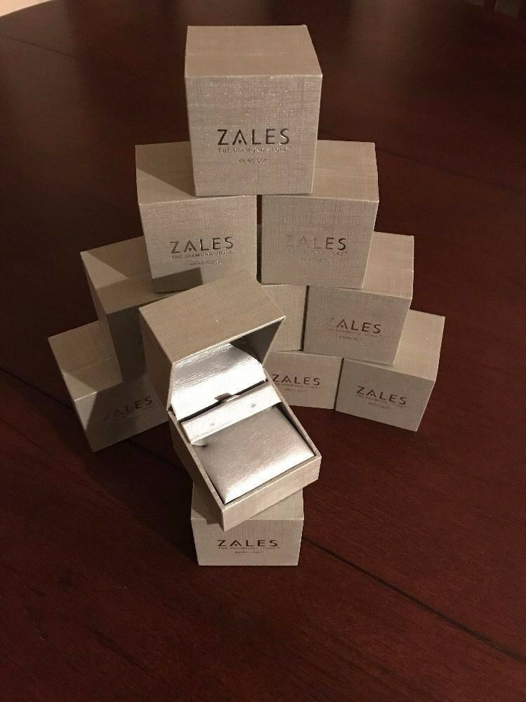 Zales the Diamond Store Silver Ring /Necklace / Earrings Jewelry Box