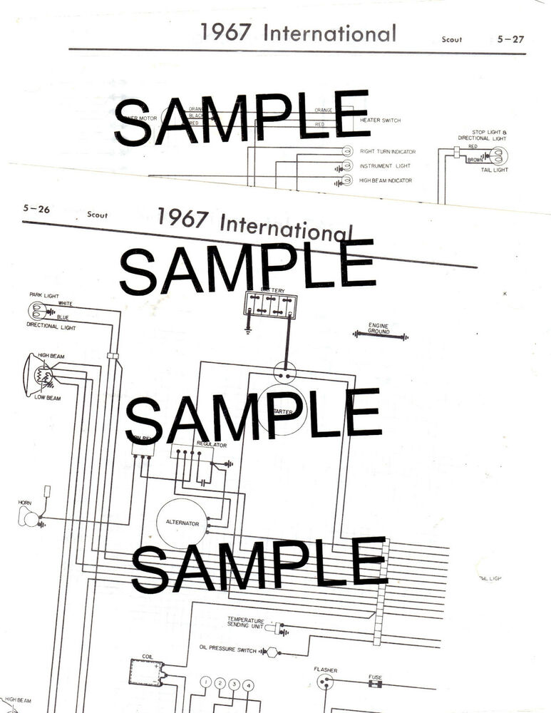1972 INTERNATIONAL HARVESTER SCOUT II 72 WIRING GUIDE CHART DIAGRAM